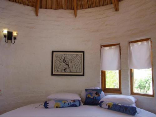 Room with round double bed in the Tower